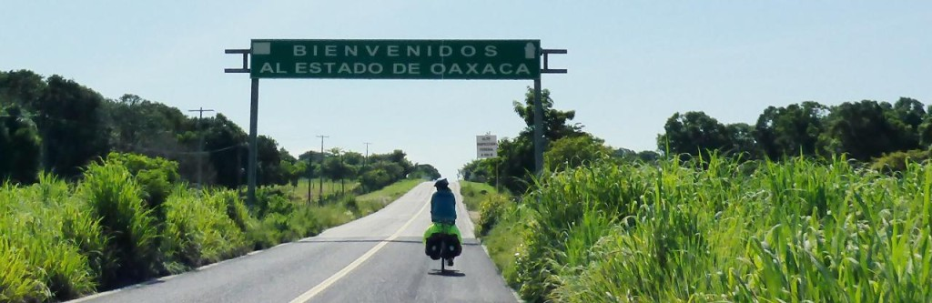 Riding into our 7th Mexican state of Oaxaca.