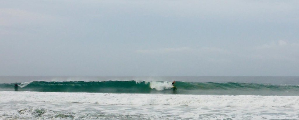 Zicatela Beach, The Mexican Pipeline because of the size and the way it breaks in shallow water. On the right swell it can be 60 feet.