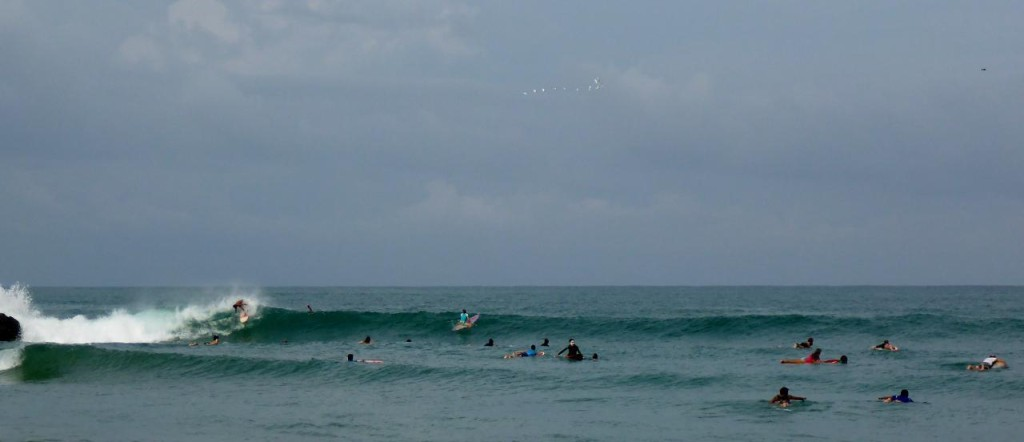 A left point break at La Punta. I'm paddling out on the far right.