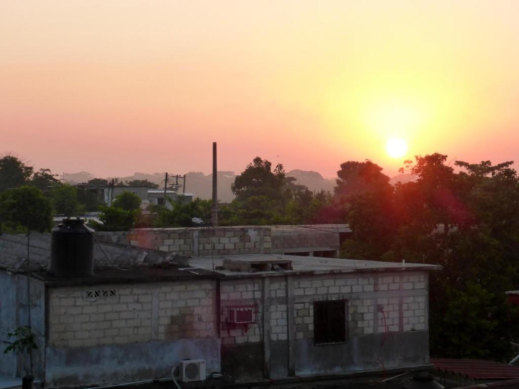 Sunrise over Jesus Carranza.
