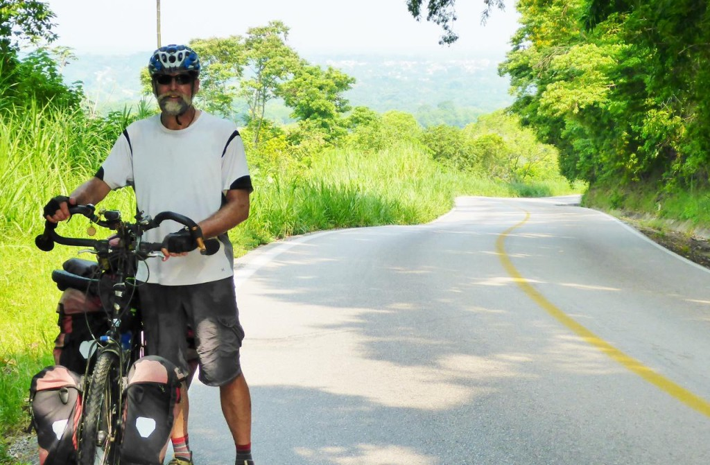 Climbing out of Palenque (in the background).