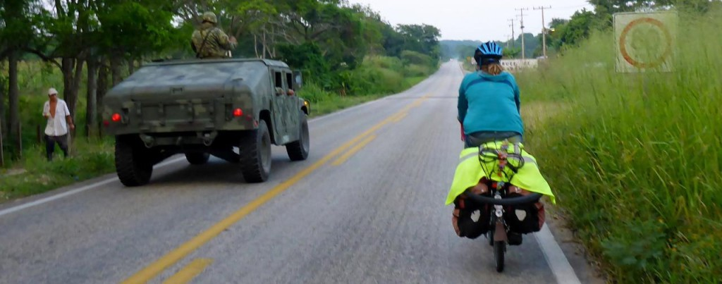 After two months and 6 days and 2,434 miles in Mexico the Mexican military was with us everywhere.