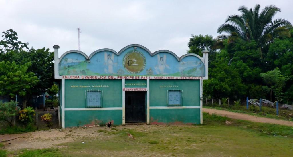 A typical Guatemalan church.