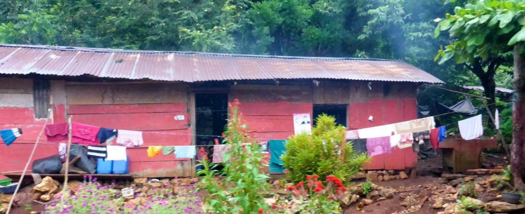 A typical house in the Guatemala countryside.