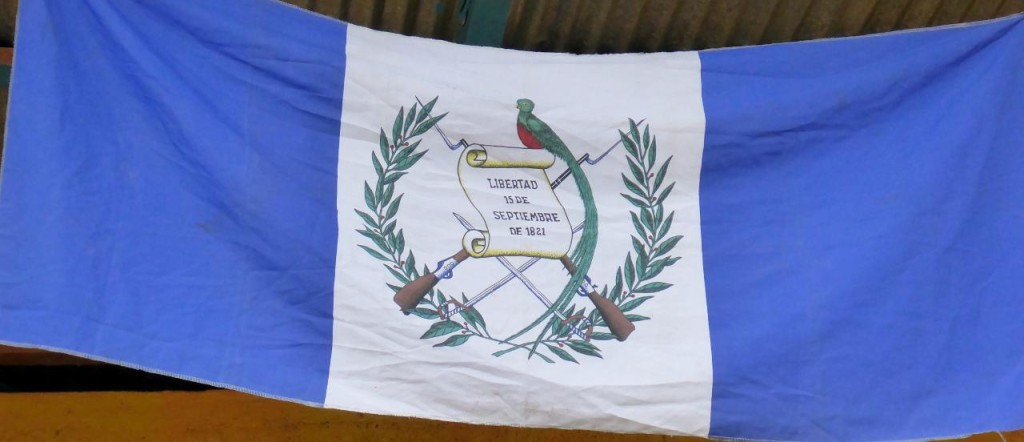 A Guatemala Liberty flag.