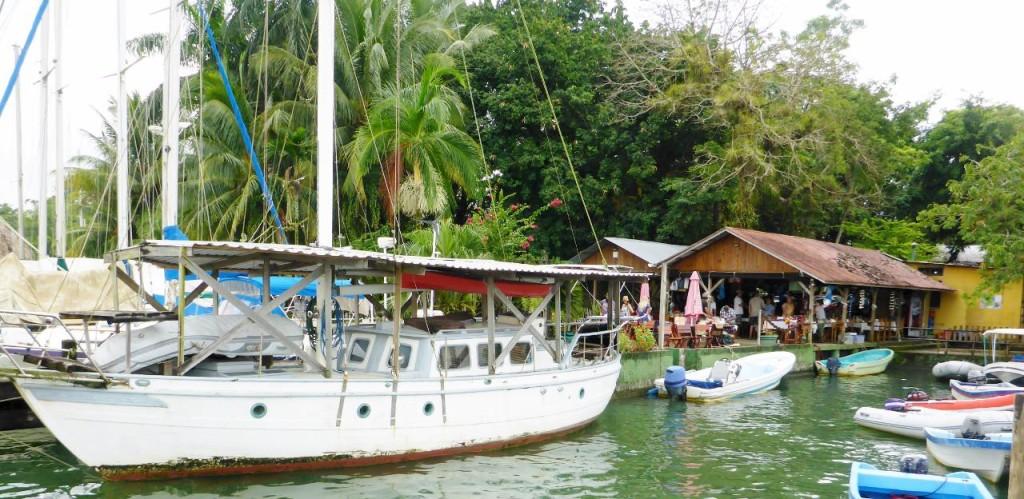Bruno's marina in Rio Dulce.