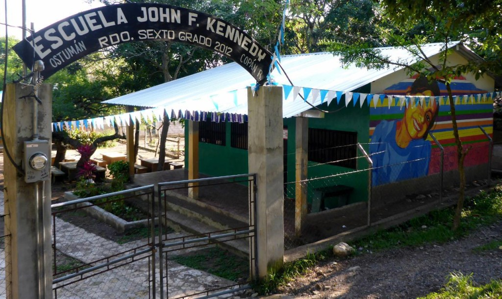 John F. Kennedy School in Copan Ruinas, Honduras, C.A. (Central America)