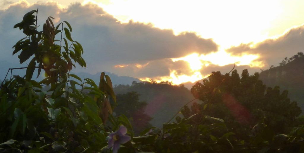 ...and a very fine Honduran sunset.