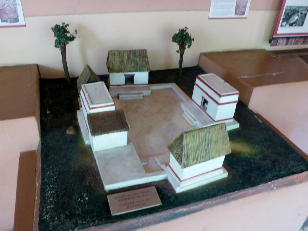 A model of the housing area.