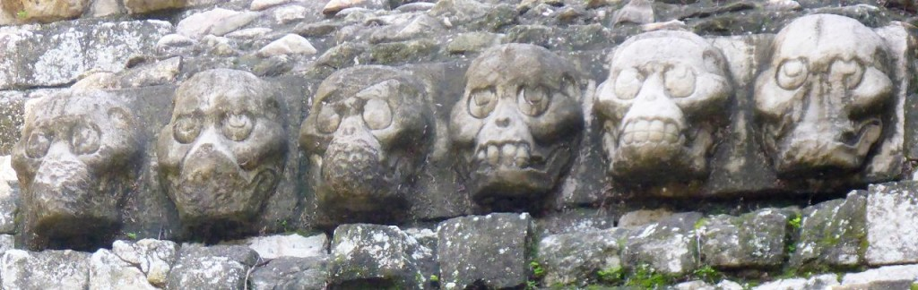 Skeleton heads.