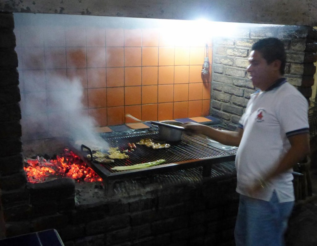 We rarely eat meat besides chicken but heard about this great grilling place in Copan Ruinas.