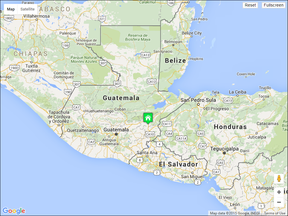 We are 20 miles from the Honduras border.