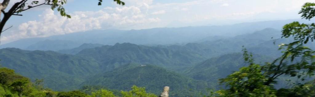 A mountain view.