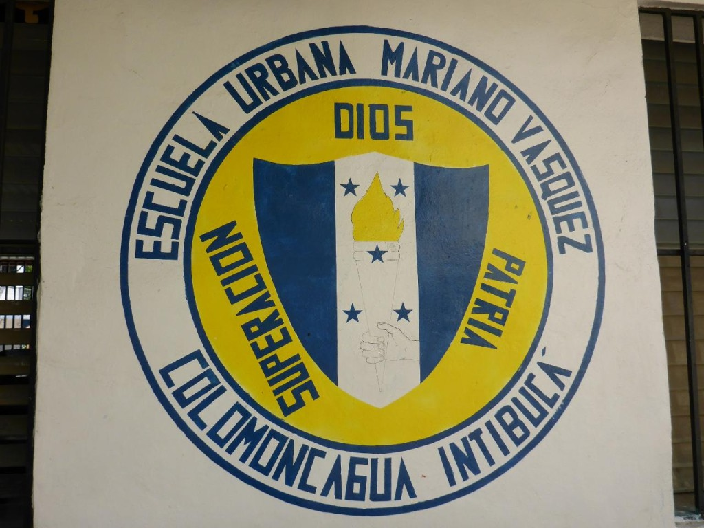 The elementary school. There is no separation between church and state in Honduras.