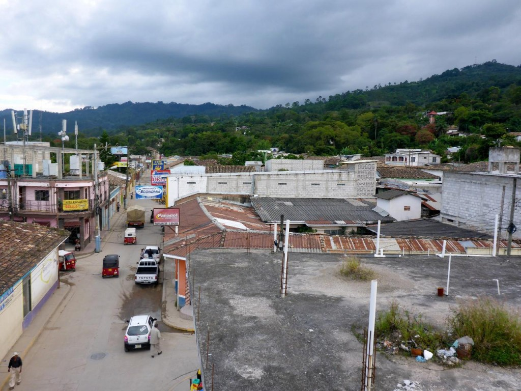 A climb to El Salvador from the town of Marcala, Honduras.