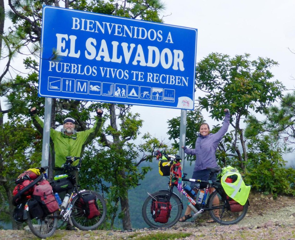 El Salvador Achieved - our 29th country to bicycle in.