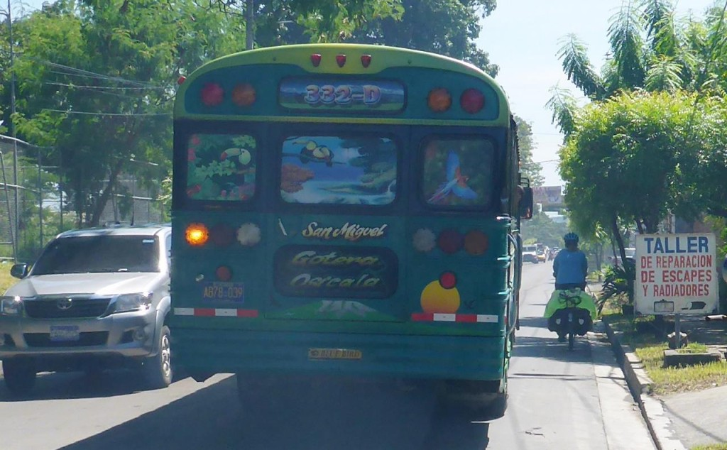 The bus drivers in San Miguel are very aggressive as in fast and close.