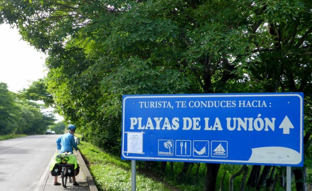 Cycling to La Union.