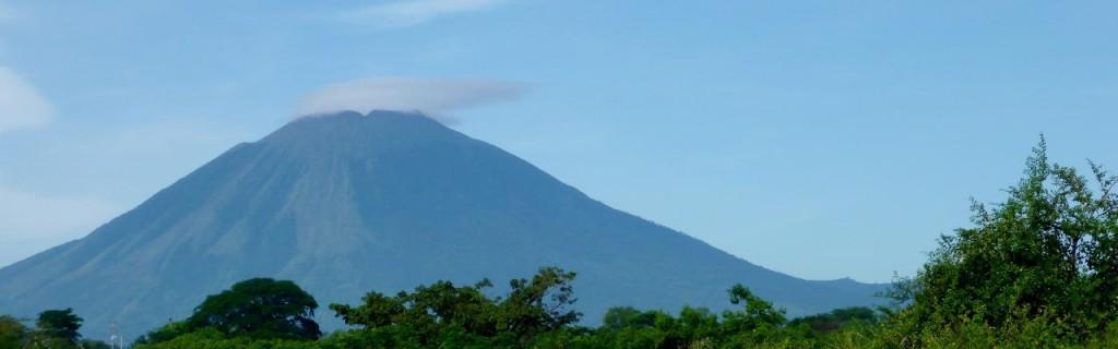 Leaving San Miguel, a last look at Volcano San Miguel.