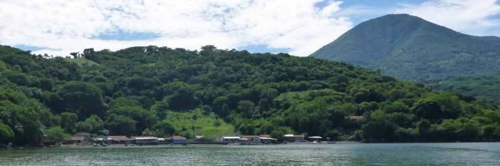 An El Salvador island fishing village.