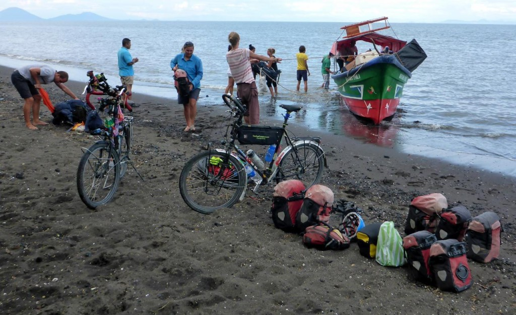 A beach landing and we waded all of our stuff ashore. Fun!