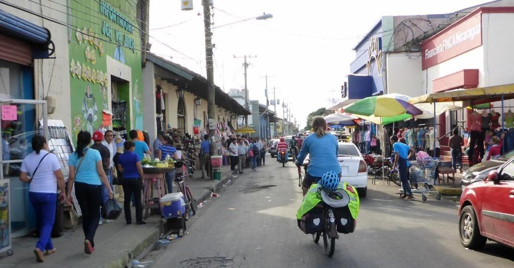 Entering Leon, Nicaragua.