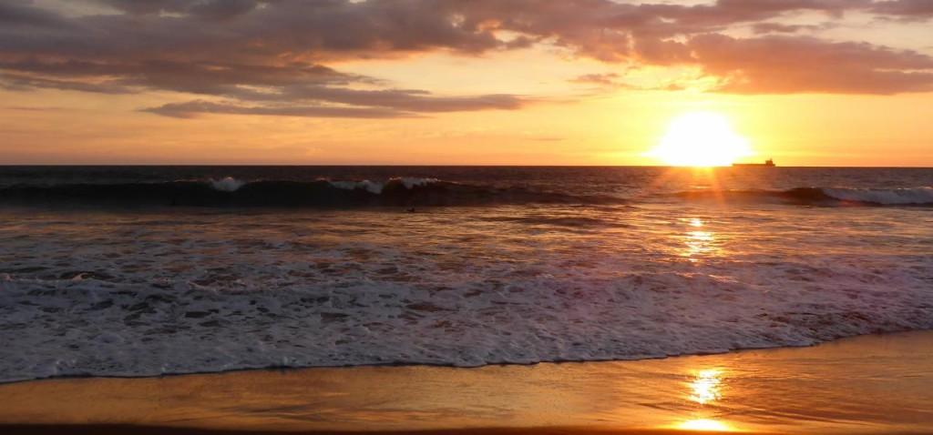 A true Nicaraguan sunset.