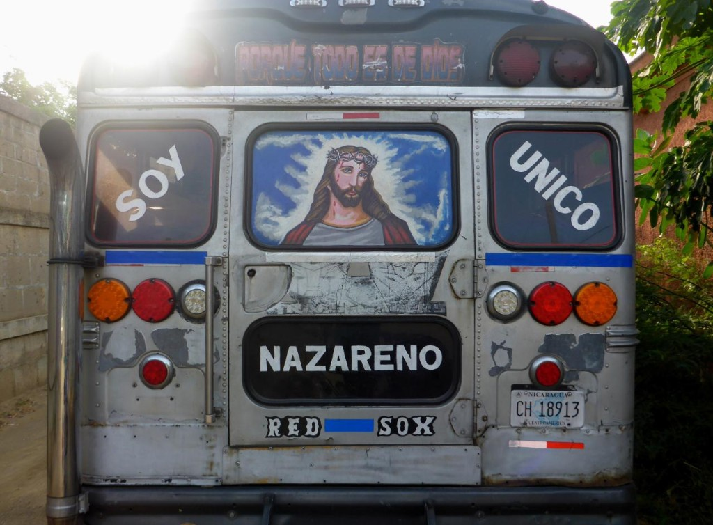A Jesus bus. There seems to be a competition here on decorating their buses.