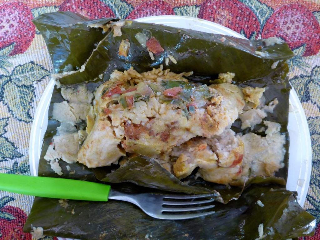 A delicious tamale from our homestay.