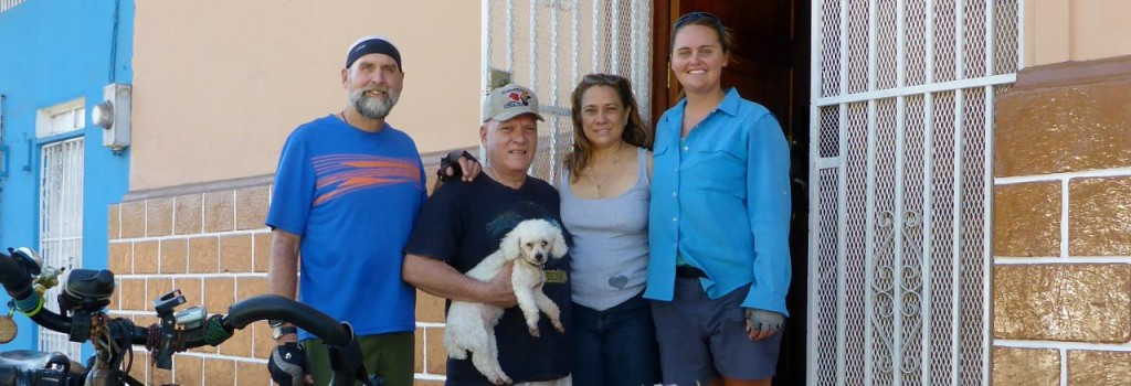 We had a nice homestay and great meals with Carla and Julio and Francesa the dog.
