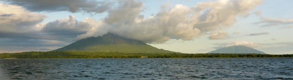 ...Volcan Concepcion on the left and Volcan Maderas.