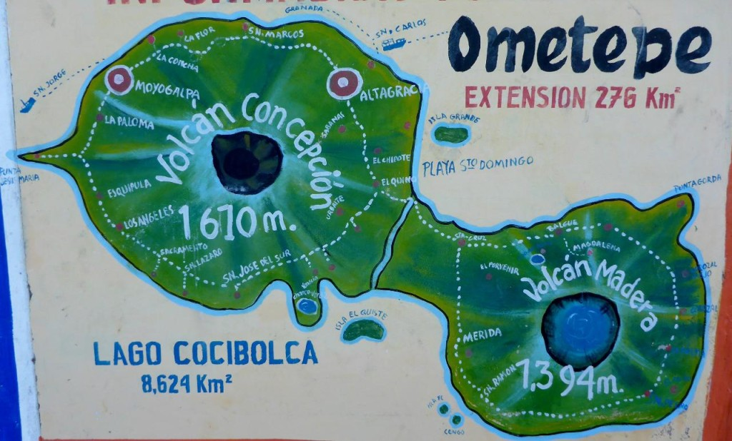 A good drawing of Ometepe.
