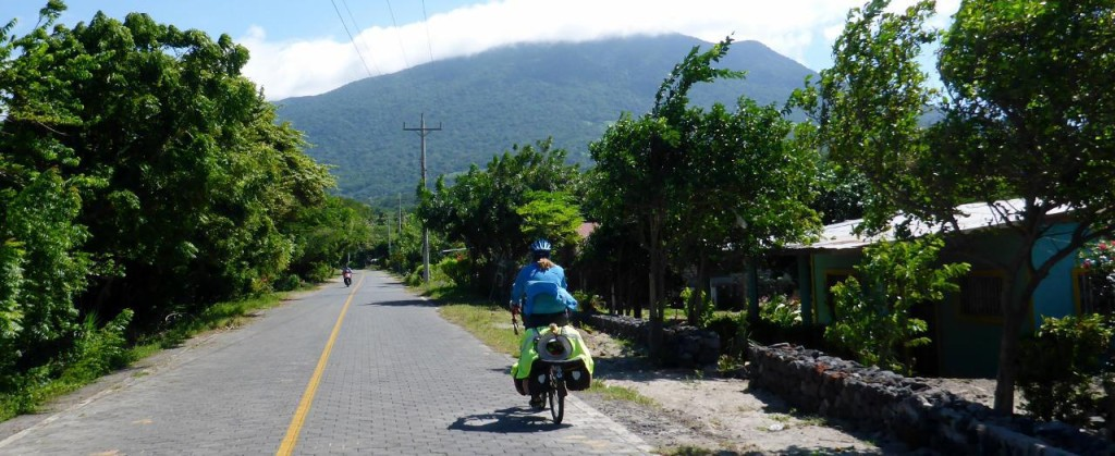 Heading towards the south of Ometepe. Volcan Maderas in the background.