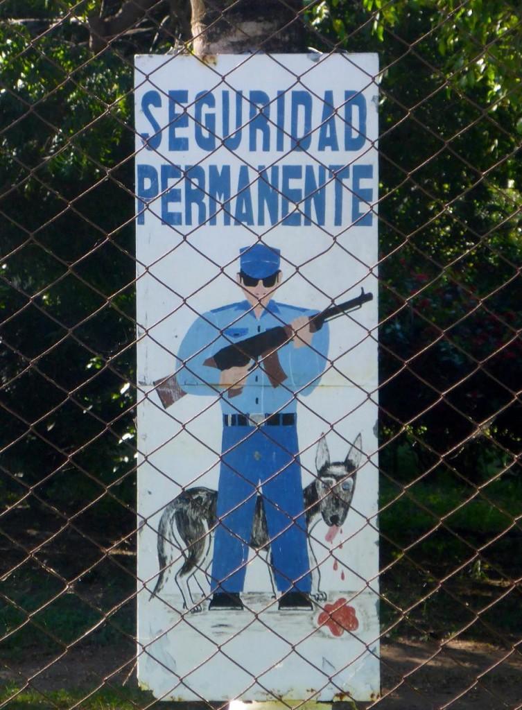 Security guards everywhere. Nice dog.