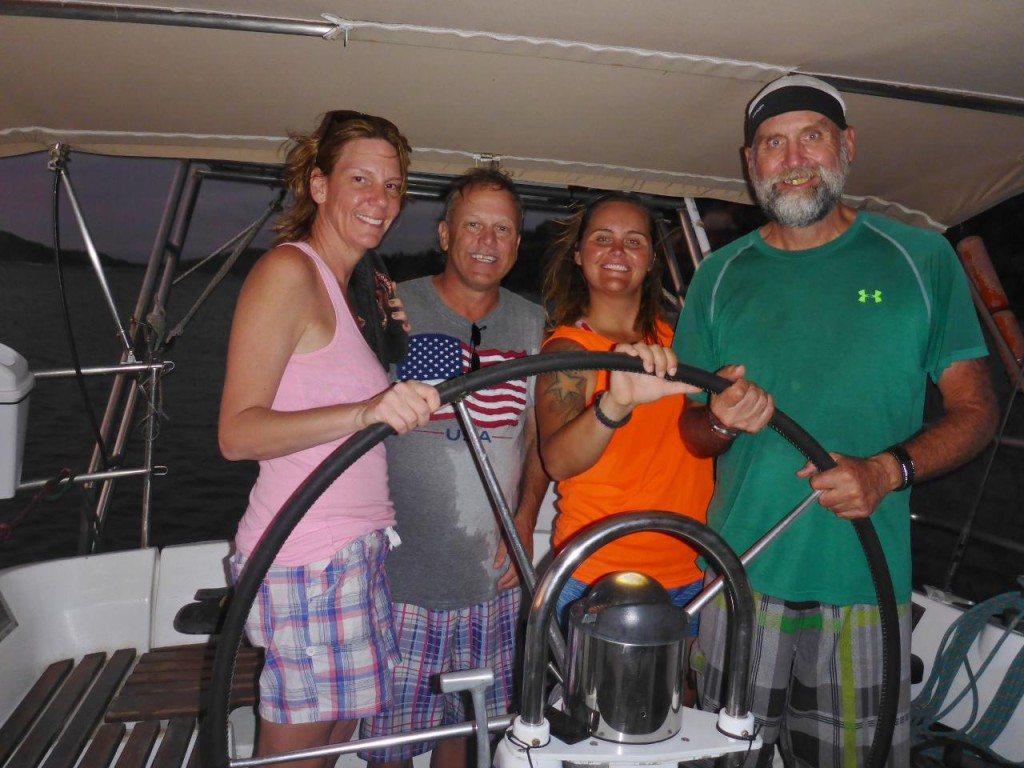 Only four of us as passengers. Our new friends Sandie and Mike from Arizona.
