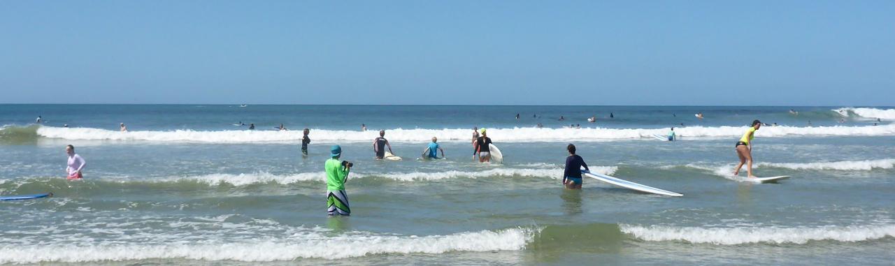 Busy on the main beach.