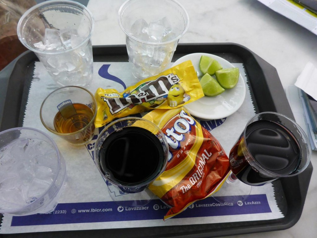 Pre-flight snacks.