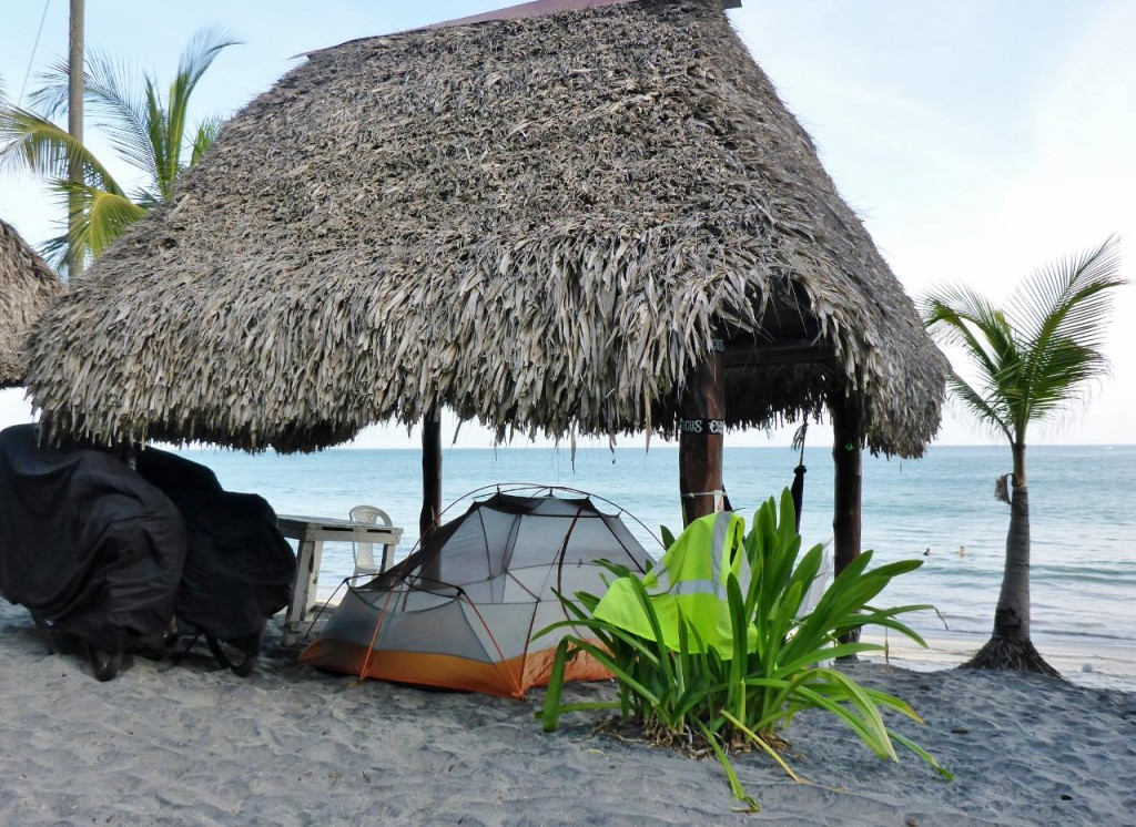 A great camp spot on Palmar Beach near San Carlos, Panama.