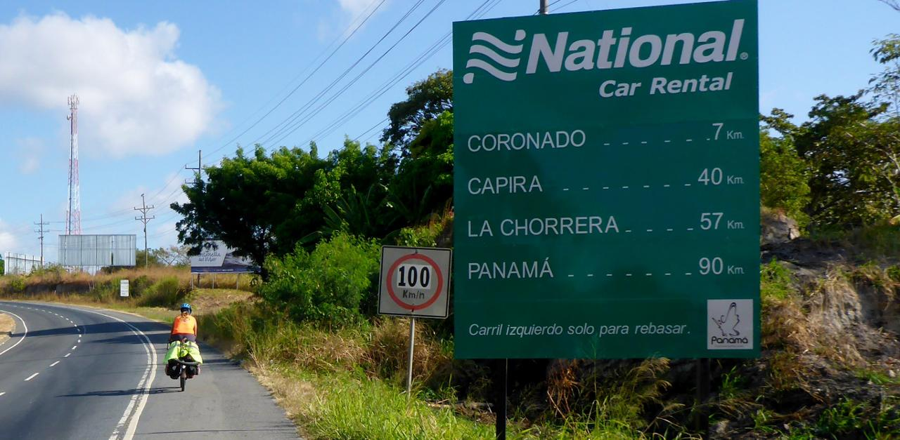 On the way to Ciudad de Panama.