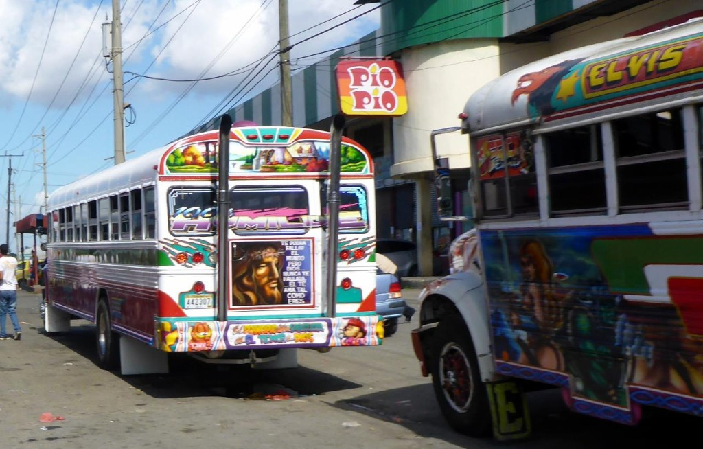 "They are very popular with the owners going all out with decorating them. They are also called ""chicken buses"" as the locals use them to transport livestock to the market."