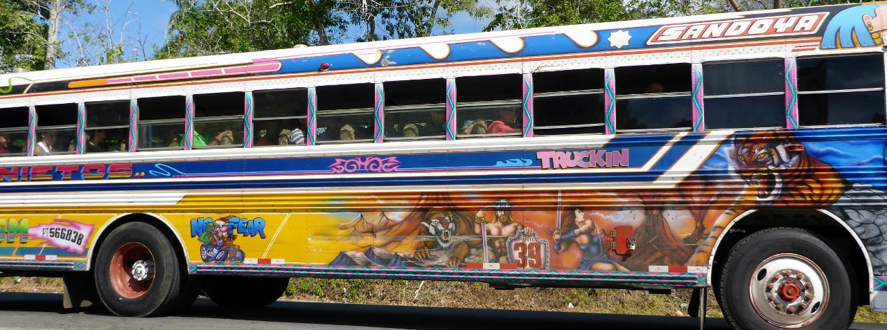 """I really like the Jesus buses. But for some reason they are call the """"red devils"""" in Panama."""
