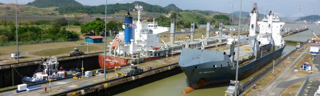 Going opposite ways. It was a fascinating morning watching the ship traffic. I transited the Panama Canal in 1998.