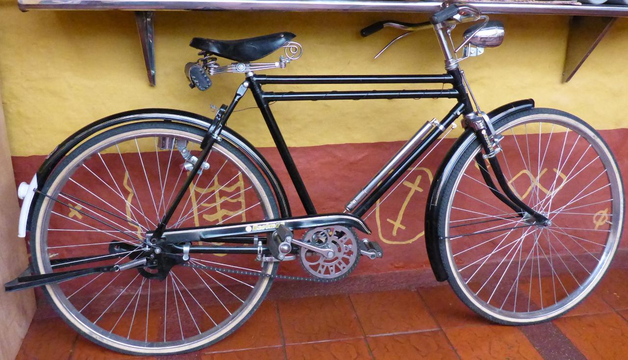 A 1960 Eastman bike that the owner rides on Sunday afternoons.