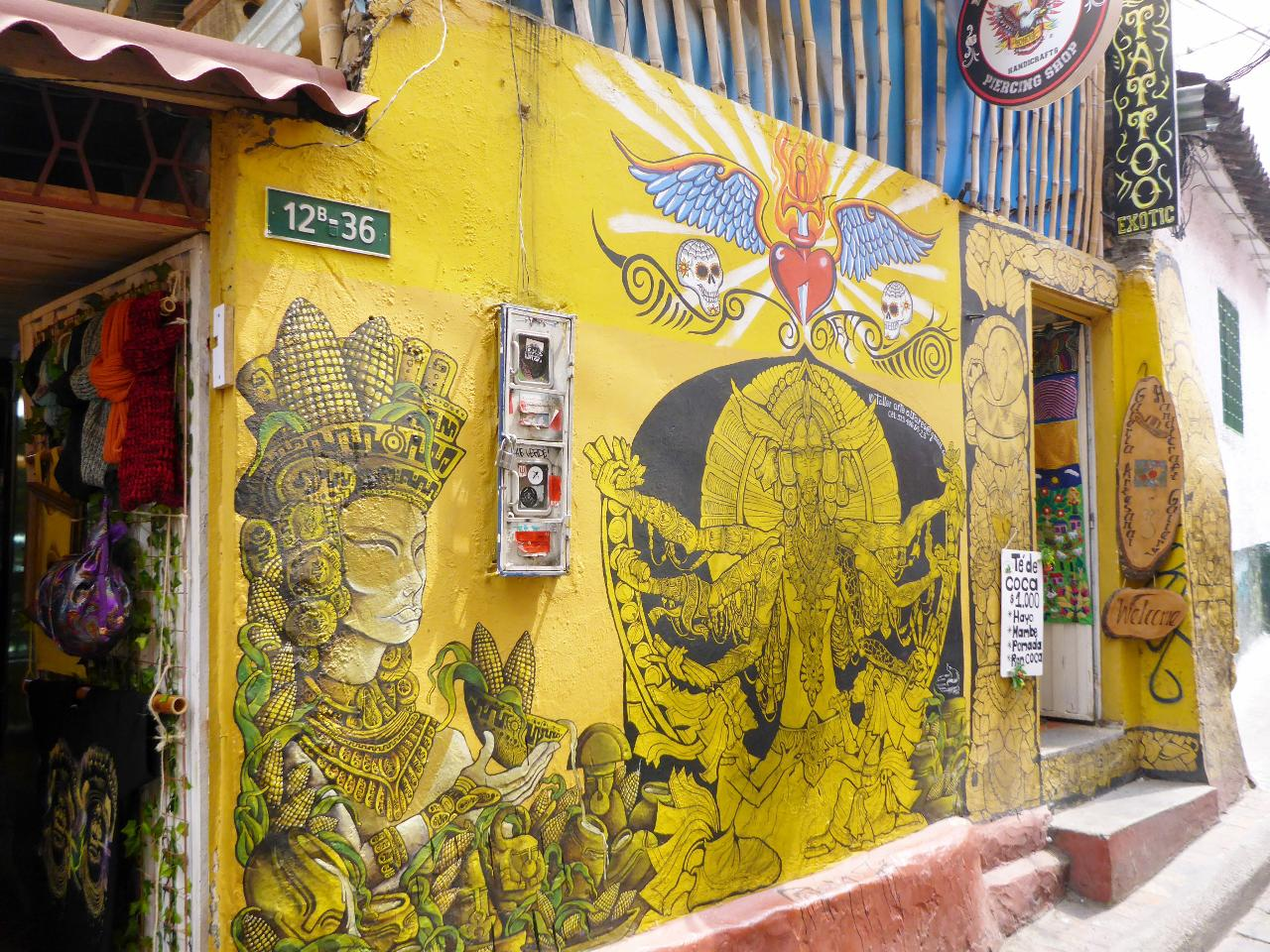 The graffiti in Bogota is beautiful.