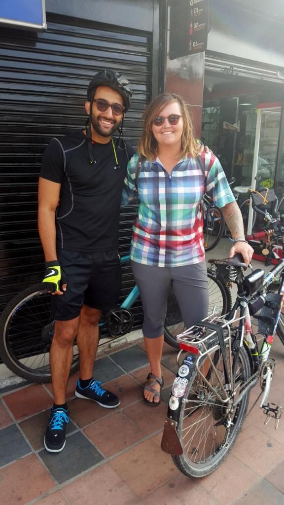 We met Juan, one of Jocelyn's friends in Florida cousin in Bogota. Nice guy and a biker too.