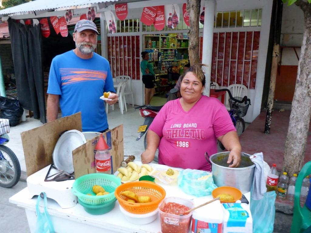 The empanada lady. We love street food.