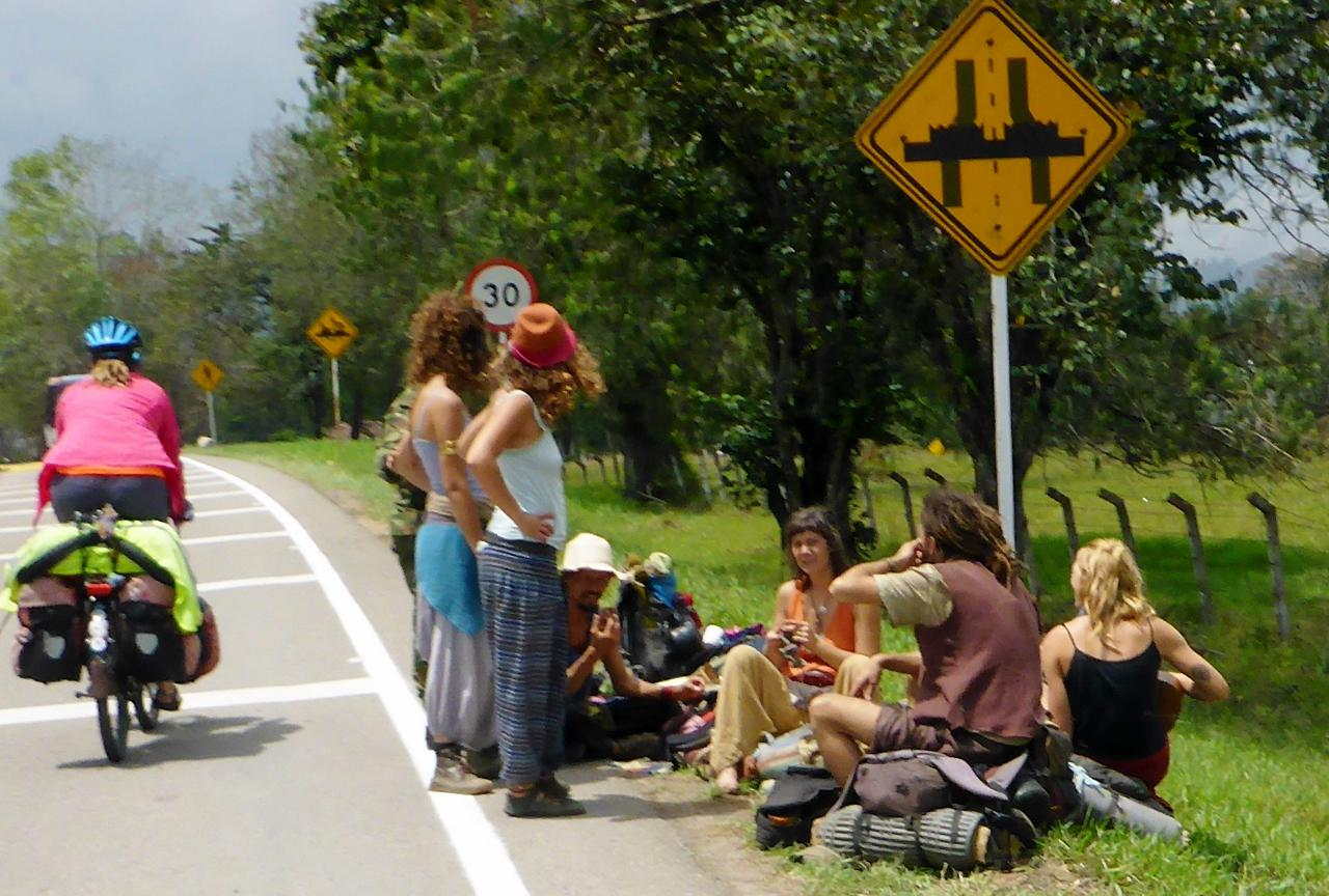Hippies in Colombia.