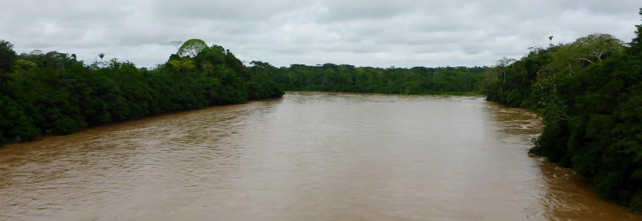 A very swollen river.