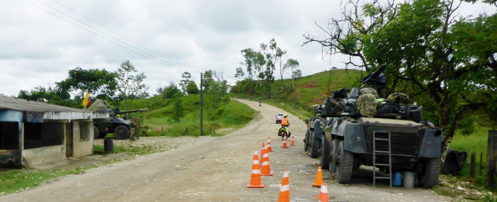 Colombia is full of military checkpoints. We were always just waved by.
