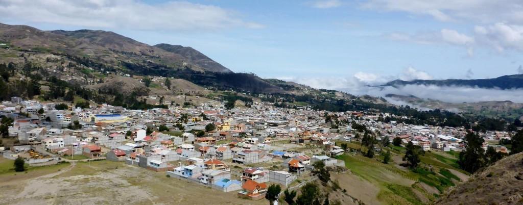 Overlooking Azogues, Ecuador.